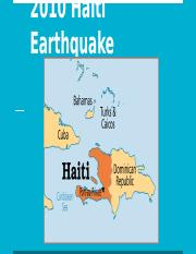 Haiti Earthquake .pptx