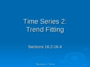 time series 2 trend fitting ppt