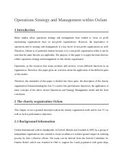 Operations Strategy and Management within Oxfam.docx