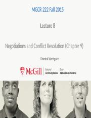 Conflict and Negotiations Without Answers