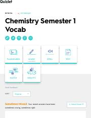 Chemistry Semester 1 Vocab Flashcards | Quizlet