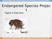 Honors Bio-Endangered species project