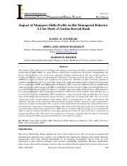 Impact of Managers Skills Profile on His Managerial Behavior.pdf