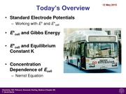 Lecture 20- Standard Electrode Potentials