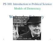 PS 100 Week 6, session 2 models of democracy online (1)