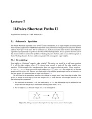 All-Pairs Shortest Paths II notes