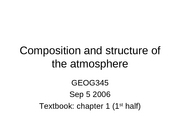 2 Composition and Structure of the Atmosphere