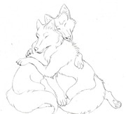 Wolf_Couple_Sketch_by_IcyVampiress