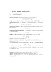 Study Sheet - Midterm 1 (Functions, Limits, Asymptotes  & Continuity) Questiions