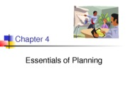 Chapter 4-Essential of planning