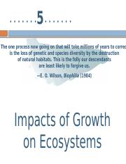 5 Impacts of Growth on Ecosystems