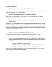 Econ 274 Practice Problems Answers