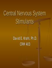 CRM403 CNS Stimulants.ppt
