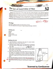 The Law Conservation of Mass