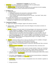 CH 9 Nominations & Campaigns Class Notes (rev. 2012)
