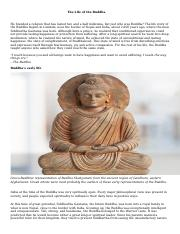 The life of the Buddha a brief history 2017.docx