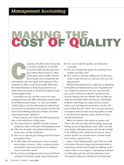 Cost of Quality Practical