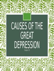 Causes of the Great Depression .pptx