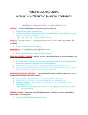 Accounting Module 10 Interpreting Financial Statements.docx