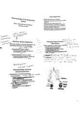 212 - Pharmacology Of The Respiratory System - Notes