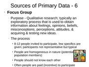 Sources of Primary Data - 6