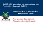 Lecture 11- Managing Intellectual Property