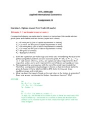 Assignment 1-Marking Scheme - INTL 2200A and B - Fall 2013