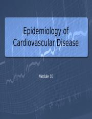 Epidemiology of Cardiovascular Disease