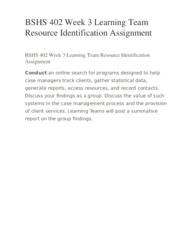 bshs 402 case manager interview presentation Bshs 402 essay examples bshs 402 essay examples 2563 words oct 25th, 2012 11 pages show more----- course syllabus bshs/402 case management course start date: 10/30/2012 start your search now to find a case manager to interview for your lt project.