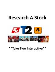 Research A Stock -Take Two Interactive-1 RAS 2nd Semester.docx