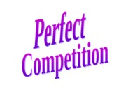 Ch 12 Perfect Competition
