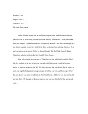 english 2 thematic essay theme