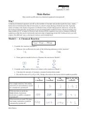 mole ratios pogil activities for high school chemistry answer key