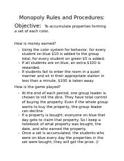 Monopoly Rules and Procedures.docx