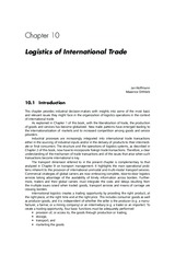 Essentials of Logistics and Management by Jaffeux 3e Chap 10