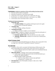 PSYC Chapter 5 Outline