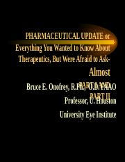 everything theraoeutic prac pharm HO2013