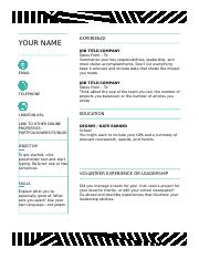 Creative resume, designed by MOO.dotx
