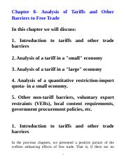 Chapter 8- On Tariffs.doc