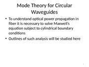 Mode theory of waveguides1