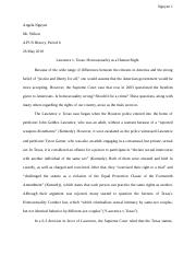 Lawrence v. Texas_ Homosexuality as a Human Right.docx