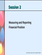 Session 2 - Measuring and reporting financial position-Chapter 3