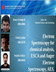 Electron Spectroscopy for chemical analysis, ESCA