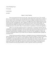 Critical Thinking Project-Chapter 3.docx