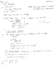 PHYS 301 Lecture 1 Notes