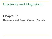 ch11-Resistors and Direct-Current Circuits