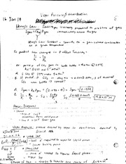 Vapor Pressure and Concentration notes