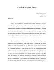 Conflict solution essay