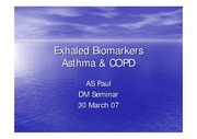 Exhaled Biomarkers