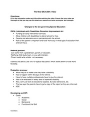 video worksheet